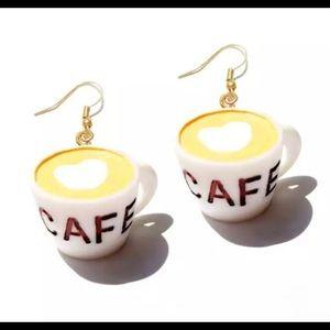 Coffee Cup shape earrings